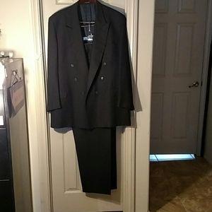 Joseph Abboud Black pinstripe Men's Suit 48L